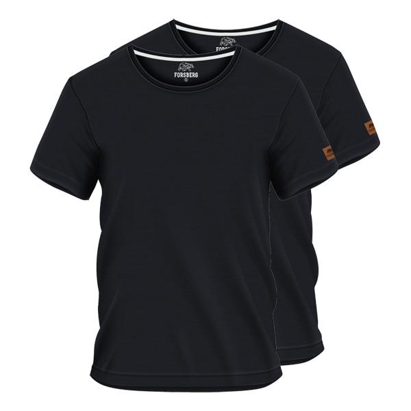 FORSBERG T-Shirt 2er-Set - Schwarz