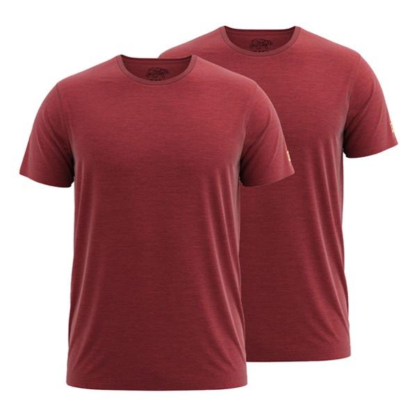 FORSBERG T-Shirt 2er-Set - Rot-Melange