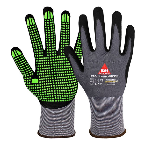 Hase Safety PADUA GRIP GREEN Handschuhe