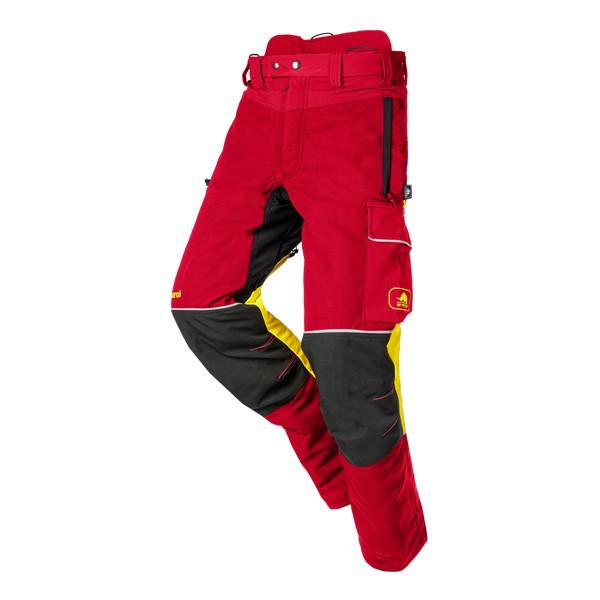 SIP Samourai Schnittschutzhose rot-gelb