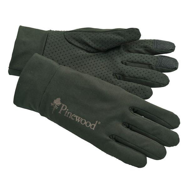 Pinewood Thin Liner Handschuhe Moosgrün