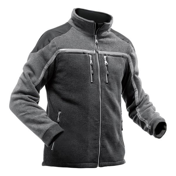Pfanner Jobby Colour Fleecejacke schwarz-grau