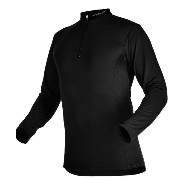 Pfanner Zipp-Neck Shirt Black Edition langarm