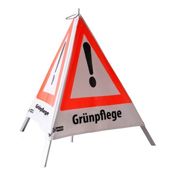 Warnpyramide Grünpflege