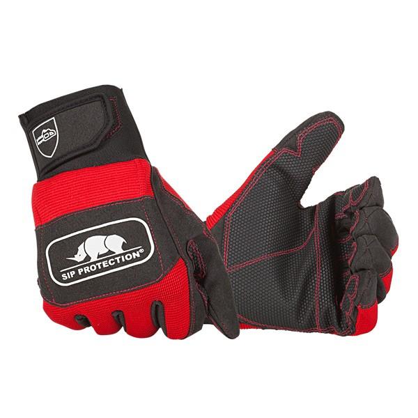 SIP Schnittschutzhandschuhe rot-schwarz