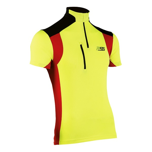 PSS X-treme Skin Shirt kurzarm rot-gelb