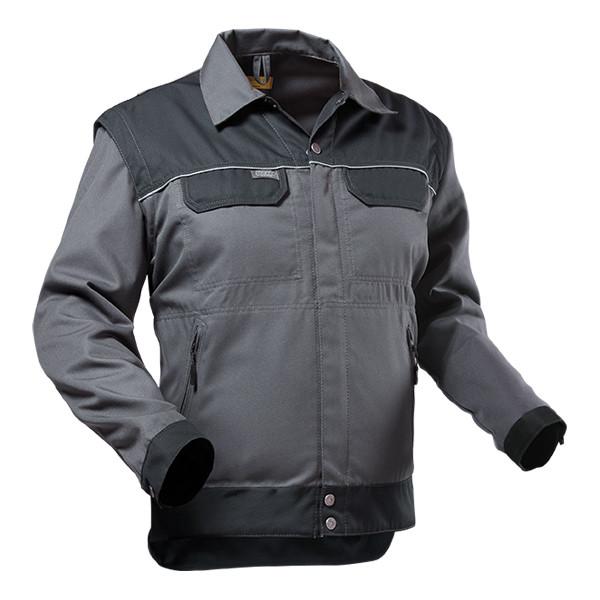 Pfanner StretchZone Canvas Arbeitsjacke grau-schwarz