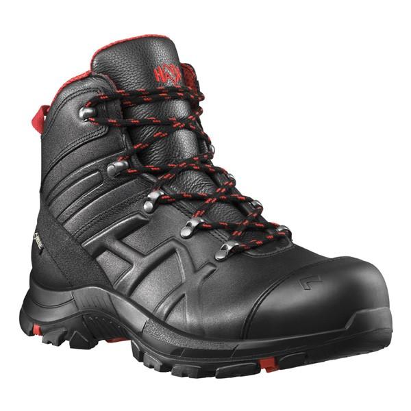 HAIX Black Eagle Safety 54 Mid Sicherheitsstiefel schwarz-rot