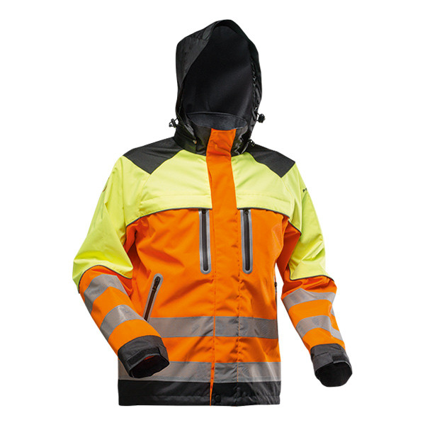 Pfanner Nanoshield Regenjacke EN20471 orange-neongelb