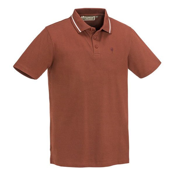 Pinewood Outdoor Life Polo-Shirt Copper