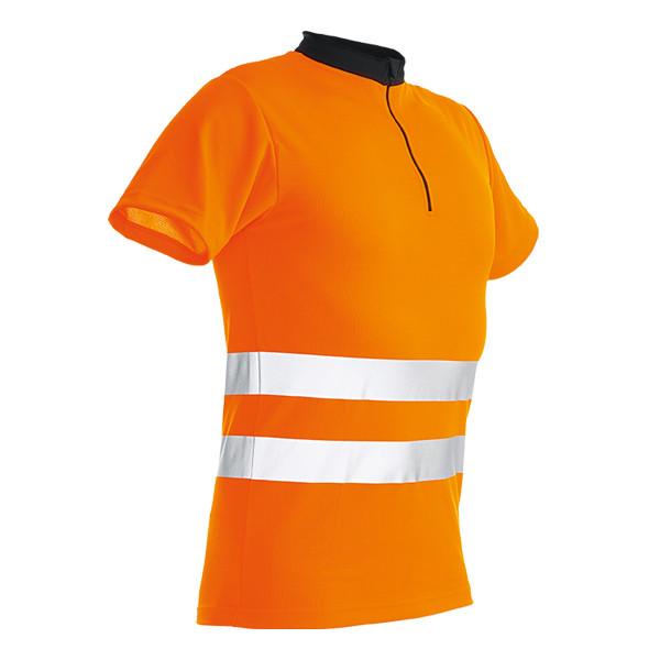 Pfanner Zipp-Neck Shirt kurzarm EN20471