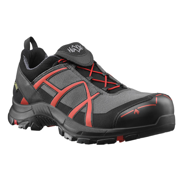 HAIX Black Eagle Safety 40 Low Sicherheitsschuh grau-rot