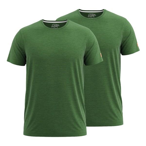 FORSBERG T-Shirt 2er-Set - Grün-Melange
