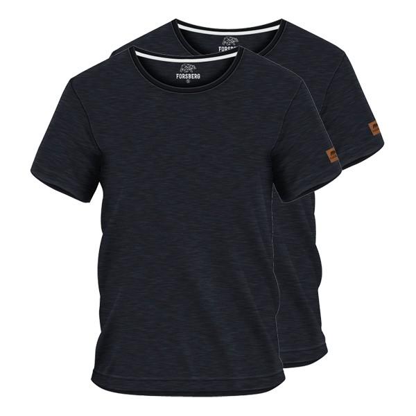 FORSBERG T-Shirt 2er-Set - Anthrazit