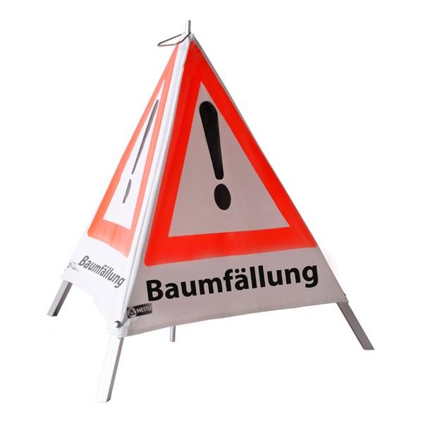 Warnpyramide Baumfällung