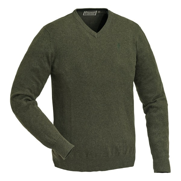 Pinewood Finnveden V-Neck Sweater Grün-Melange