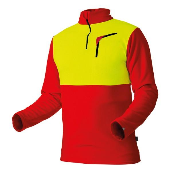 Pfanner Husky Shirt rot-neongelb