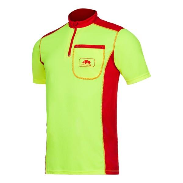 SIP Funktionsshirt kurzarm, gelb-rot