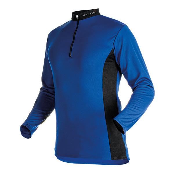 Pfanner Zipp-Neck Shirt langarm blau