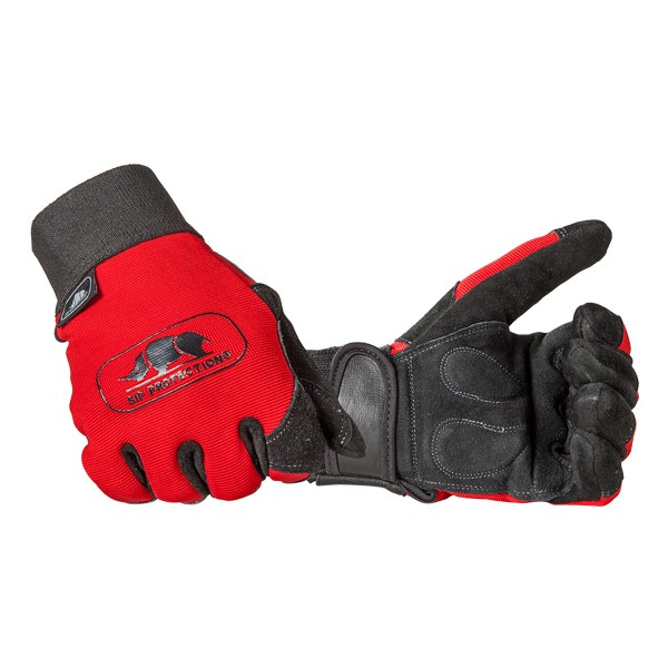 SIP Forsthandschuhe, EN388, rot-schwarz