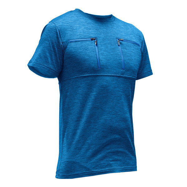 Pfanner Skin-Dry Thermo Zipp-2-Zipp Shirt kurzarm blau
