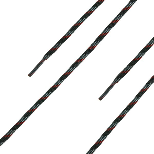 HAIX Schnürsenkel, rund, schwarz-rot