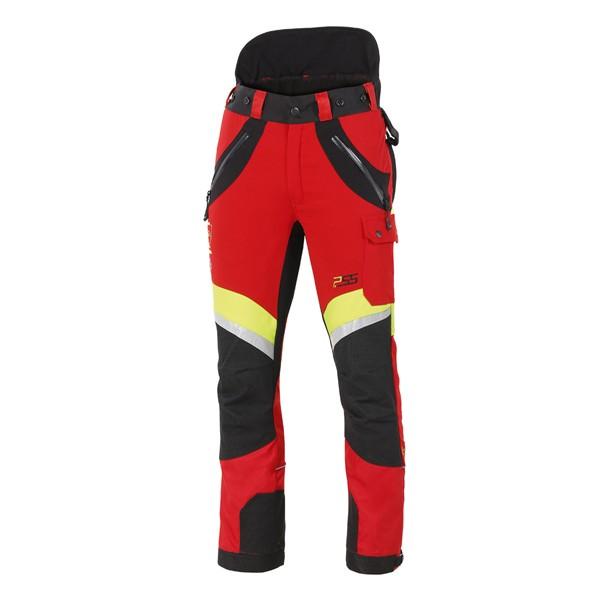 PSS X-treme Air Schnittschutzhose rot-gelb