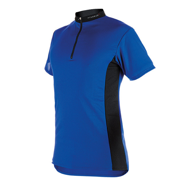 Pfanner Zipp-Neck Shirt kurzarm blau