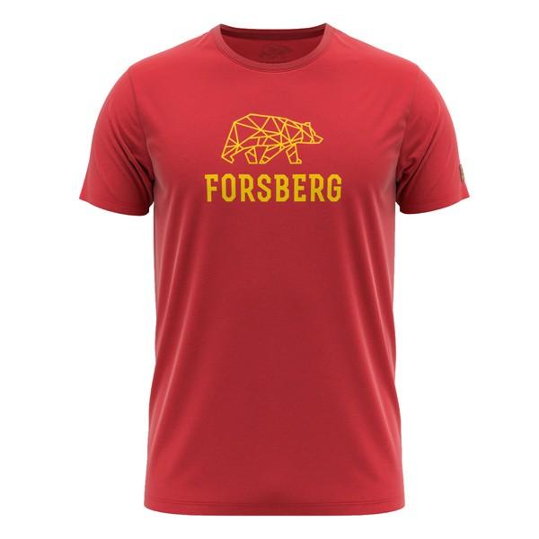 FORSBERG Skogson T-Shirt rot-gelb