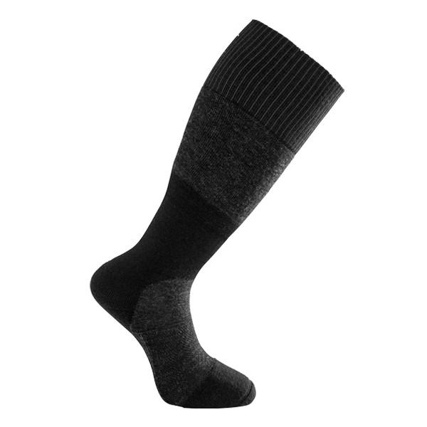 Woolpower Skilled Knee-High 400 Socken, black/dark grey