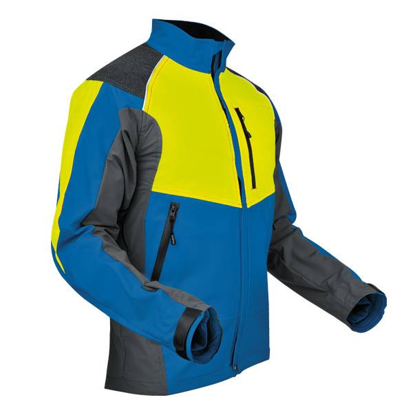 Pfanner Ventilation Jacke blau-neongelb
