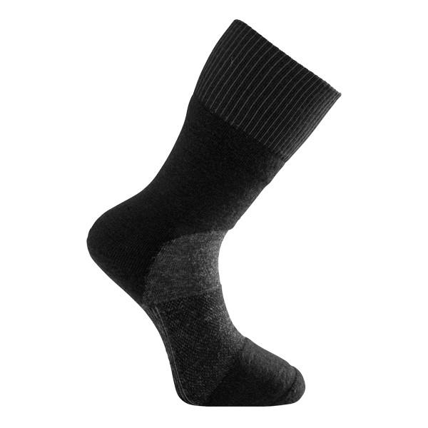Woolpower Skilled Classic 400 Socken, black / dark grey