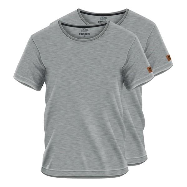FORSBERG T-Shirt 2er-Set - Hellgrau